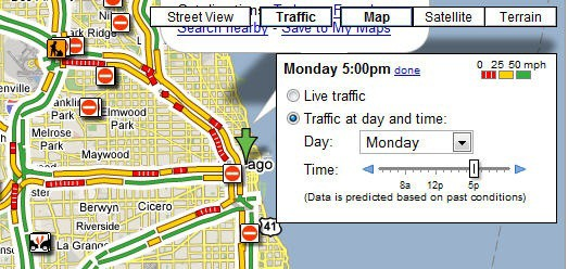 google traffic conditions