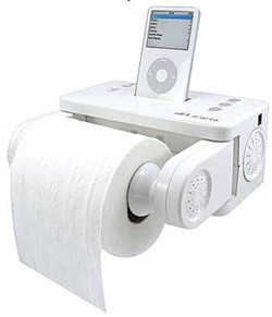 icarta ipod toilet paper holder