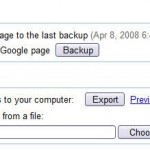 Helpful Tip: How to Backup, Export or Import iGoogle