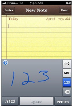 iphone handwriting