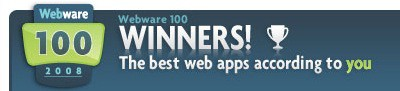 Webware 100 Awards 2008.png
