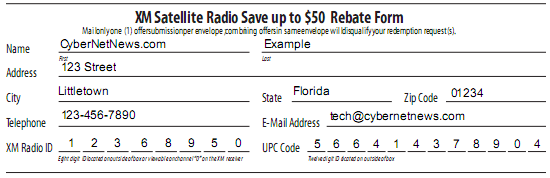 CyberNotes: Fill Out Rebate Forms Digitally
