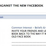 Facebook Users Not Keen on Change