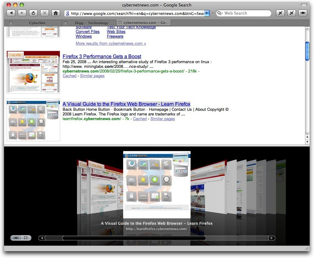 how to look at search history on mac