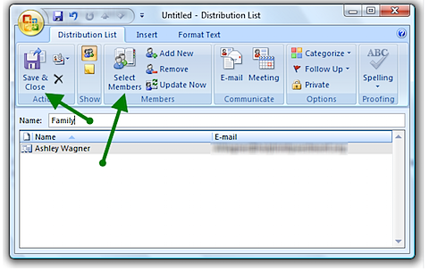 Helpful Tip: How to Create a Distribution List in Outlook 2007