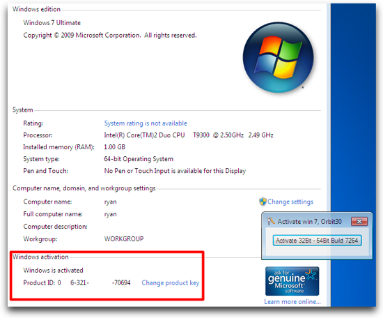 windows 7 ultimate 64 bit with activation crack