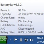 Display Battery Life on the Windows 7 Taskbar