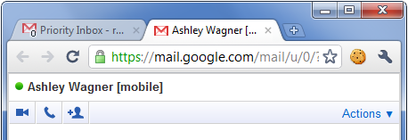 Chrome chat tabs