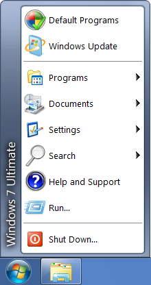 Windows 7 aero start menu