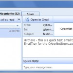 EmailTray is a Simple Desktop Mail App and Notifier
