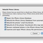 Repair and Rebuild the iPhoto Library