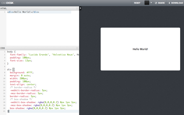 Realtime css editor