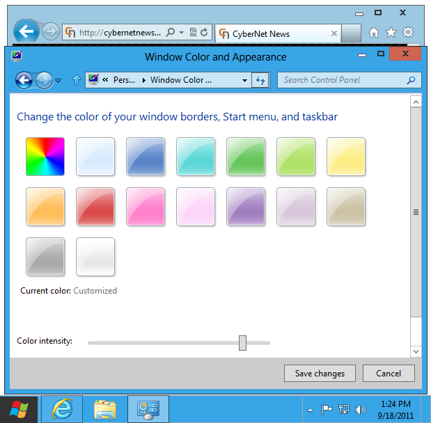 Windows 8 basic theme default