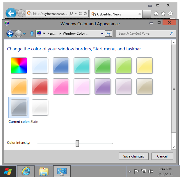 Windows 8 basic theme slate