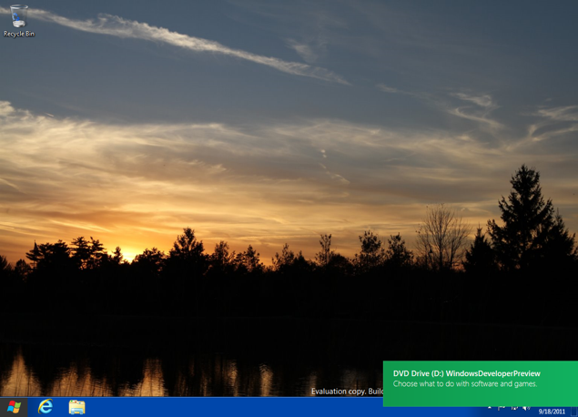 Windows 8 desktop notification 1