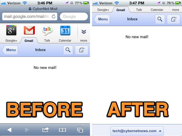 Gmail web app ios