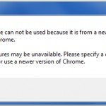 Google Chrome Downgrade Error: Your Profile Can Not Be Used Because it is from a Newer Version of Google Chrome