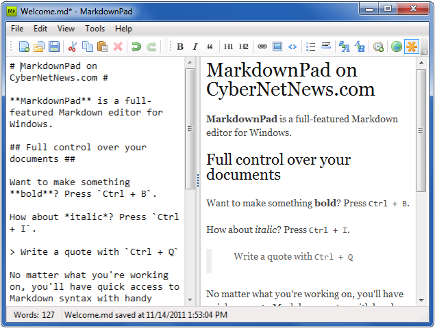 Markdown on windows