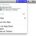 View Free Space and Eject Drives from the Mac Menu Bar