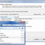 Browse Windows System Restore Points