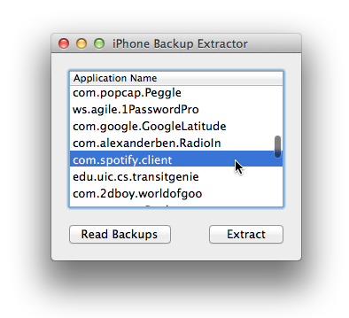 Ios backup extractor