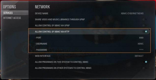 Xbmc enable web interface