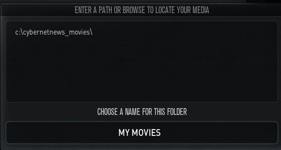 Xbmc media source name