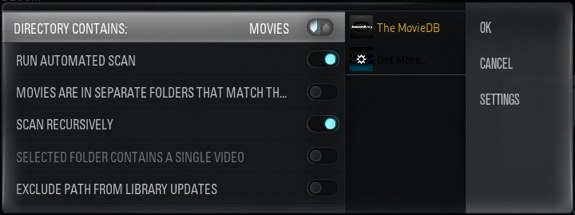 Xbmc media source type