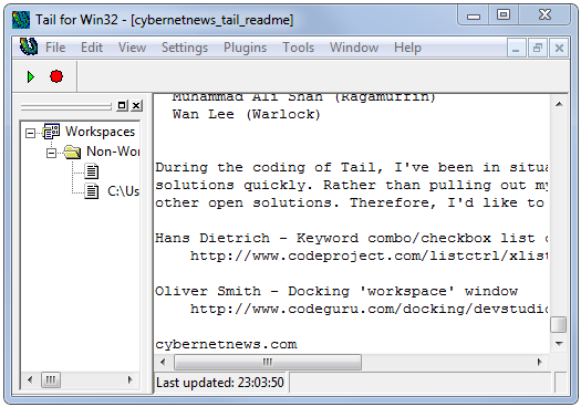 Watch Log Files with Tail for Windows
