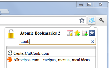 Chrome bookmark search