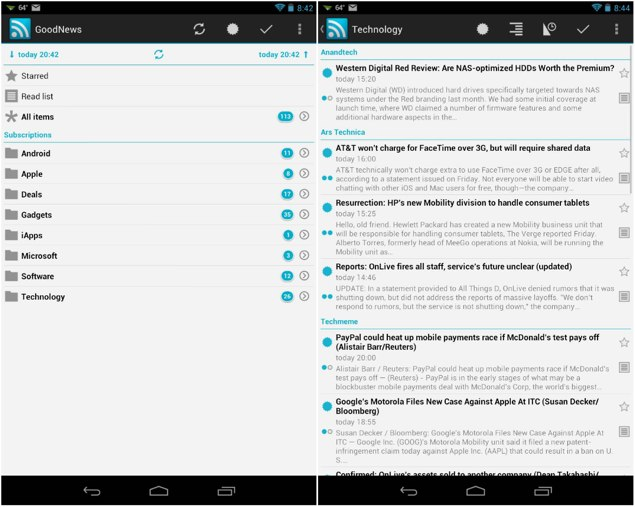 Best android rss reader