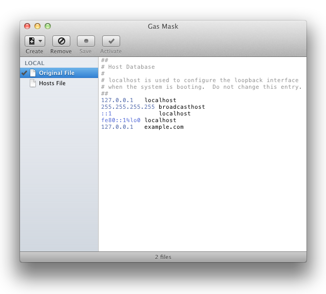 Mac hosts file editor