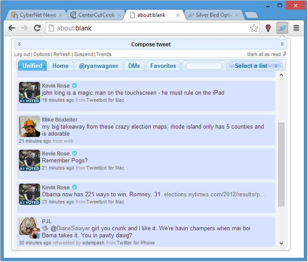 Twitter extension for Chrome